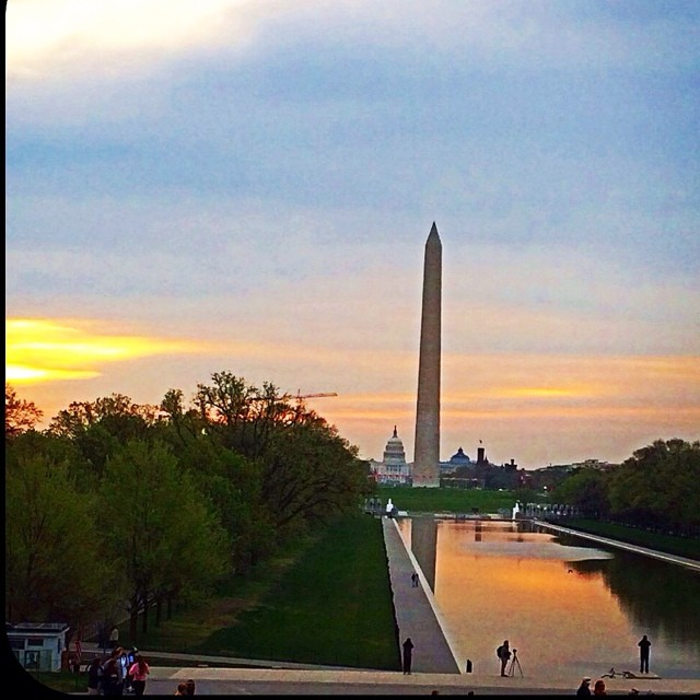 The Washington Monument at sunrise. Surely, DC is on your list of places to visit.