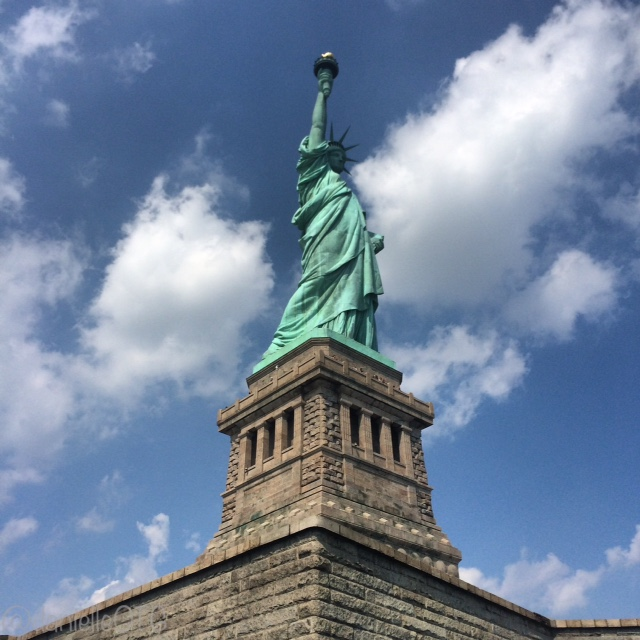The Statue of Liberty is 31 tons of copper awesomeness.
