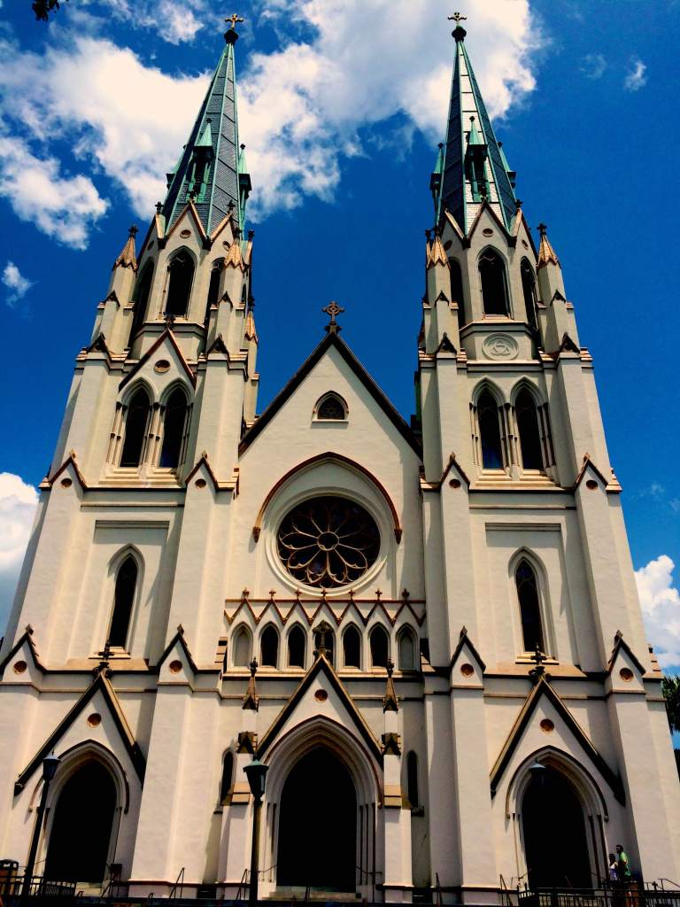The Cathedral of St. John the Baptist in Historic Savannah, GA.