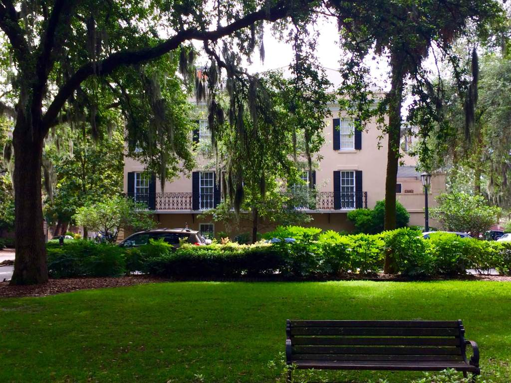 One of many squares in Savannah's historic district