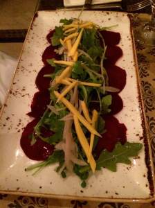 Beet  (not beef) Carpaccio from Veranda -