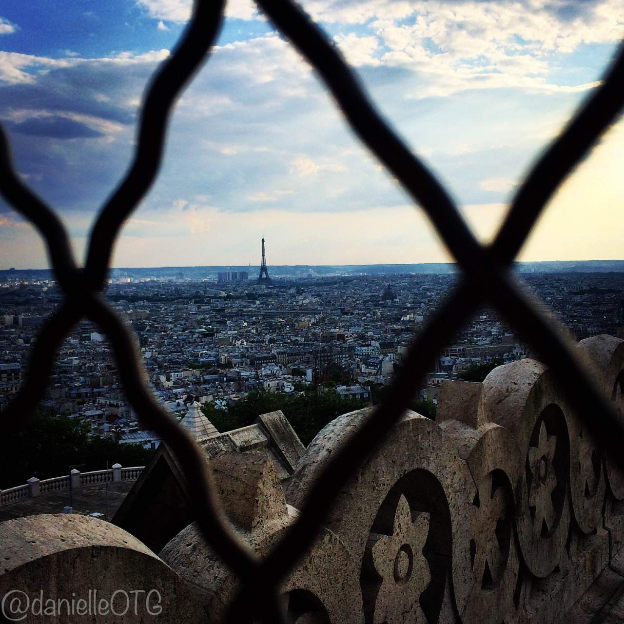 Today's On the Go Photo: Le Eiffel Tower from the Sacre Coeur Dome