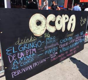 Ocopa's tempting Peruvian specials on display. A must try when on H Street NE.
