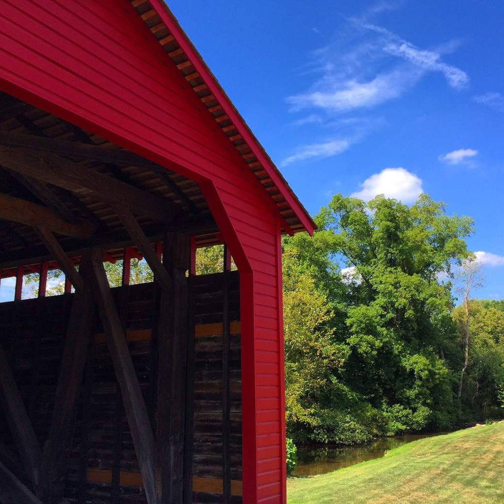 Utica Mills Covered Bridge - constructed circa 1850