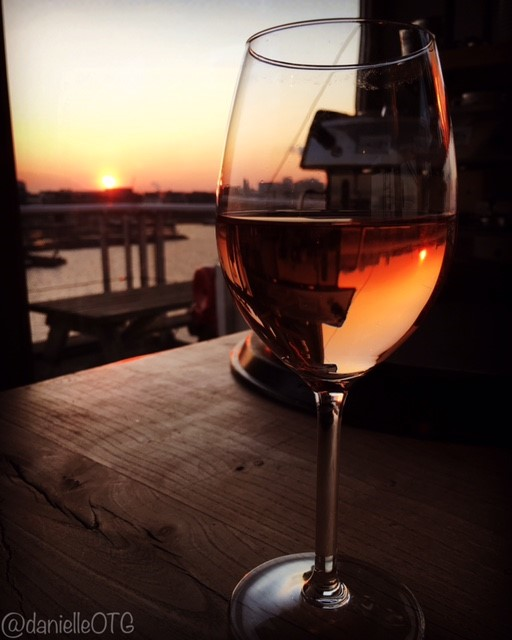 Longing for far away places and sunsets in my wine glass